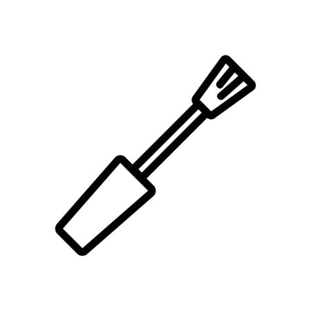 sharp cuticle trimmer icon vector. sharp cuticle trimmer sign. isolated contour symbol illustration