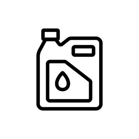 fuel lubricant in canister icon vector. fuel lubricant in canister sign. isolated contour symbol illustration