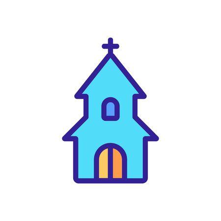 entrance to christian church icon vector. entrance to christian church sign. color symbol illustration