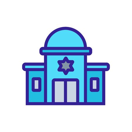 sacred synagogue with towers icon vector. sacred synagogue with towers sign. color symbol illustration