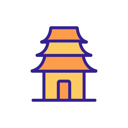 oriental holy temple icon vector. oriental holy temple sign. color symbol illustration 矢量图像