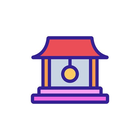 temple bell icon vector. temple bell sign. color symbol illustration