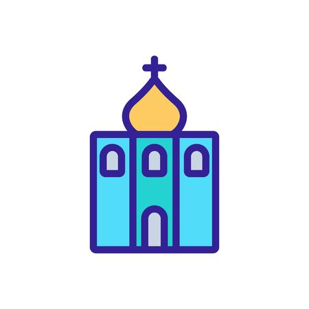 christian temple icon vector. christian temple sign. color symbol illustration