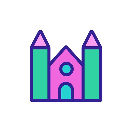 temple of high fencing icon vector. temple of high fencing sign. color symbol illustration 矢量图像