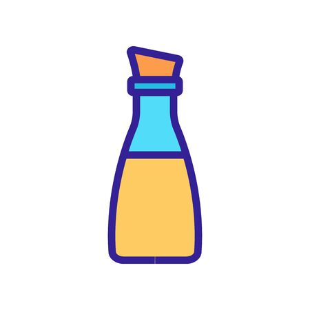 bottle with oil and cork icon vector. bottle with oil and cork sign. color symbol illustration