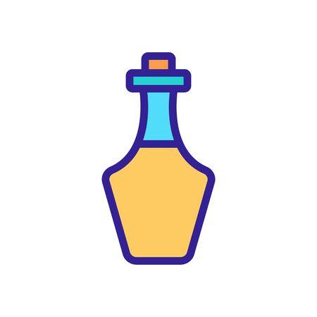 greek kitchen oil bottle icon vector. greek kitchen oil bottle sign. color symbol illustration