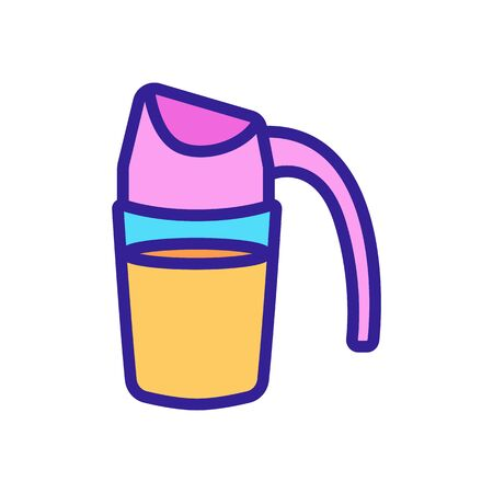 jug with oil icon vector. jug with oil sign. color symbol illustration