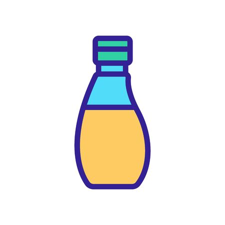 rounded bottle with oil icon vector. rounded bottle with oil sign. color symbol illustration