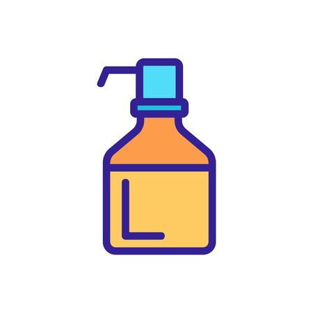 bottle with pressure pump icon vector. bottle with pressure pump sign. color symbol illustration
