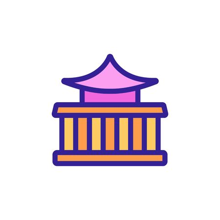 chinese oriental temple icon vector. chinese oriental temple sign. color symbol illustration Иллюстрация