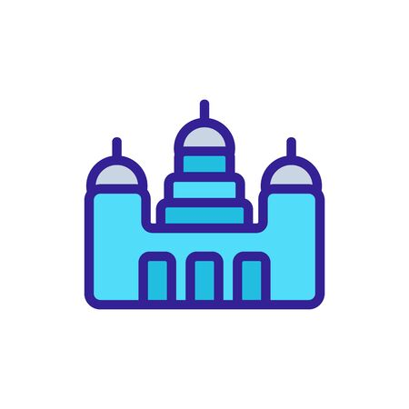 monastery appearance icon vector. monastery appearance sign. color symbol illustration 矢量图像