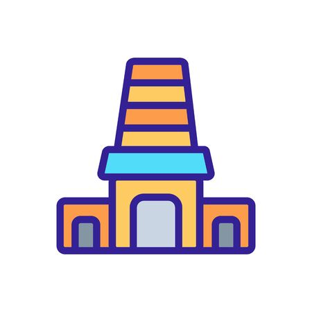 entrance to holy synagogue icon vector. entrance to holy synagogue sign. color symbol illustration