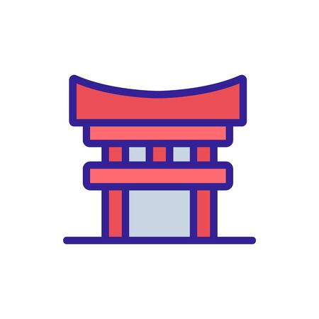 columned sacred temple icon vector. columned sacred temple sign. color symbol illustration 矢量图像
