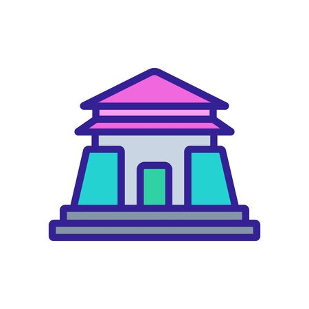 entrance to sacred temple icon vector. entrance to sacred temple sign. color symbol illustration