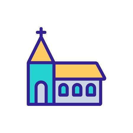 religious temple building icon vector. religious temple building sign. color symbol illustration Иллюстрация