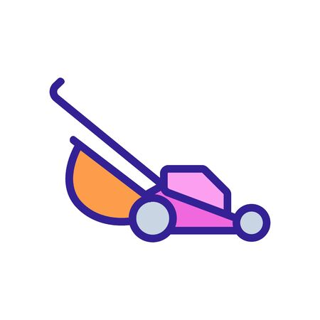manual lawn mower icon vector. manual lawn mower sign. color symbol illustration