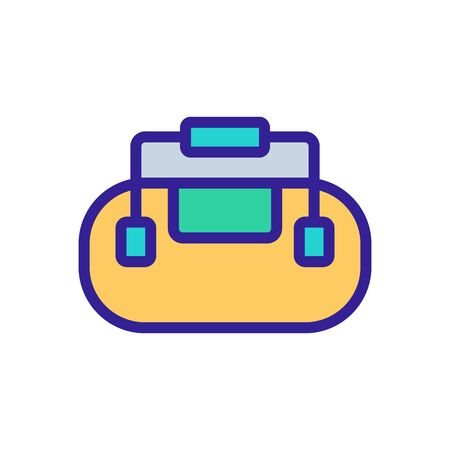 bag with securely attached handles icon vector. bag with securely attached handles sign. color symbol illustration