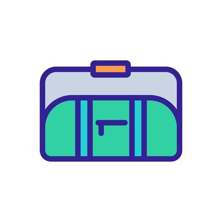 sports bag with long handle on shoulder icon vector. sports bag with long handle on shoulder sign. color symbol illustration Ilustrace