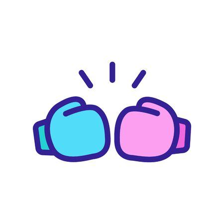 kick boxing gloves icon vector. kick boxing gloves sign. color symbol illustration Stock Illustratie