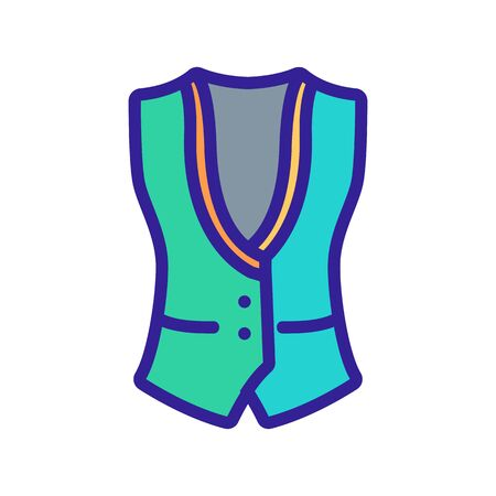 special bartender vest icon vector. special bartender vest sign. color symbol illustration