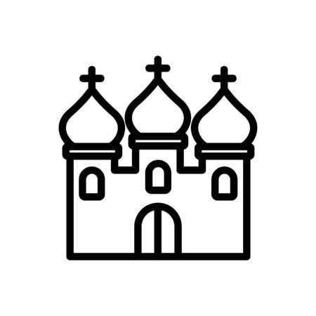 christian temple with domes icon vector. christian temple with domes sign. isolated contour symbol illustration
