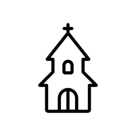 entrance to christian church icon vector. entrance to christian church sign. isolated contour symbol illustration