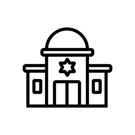 sacred synagogue with towers icon vector. sacred synagogue with towers sign. isolated contour symbol illustration