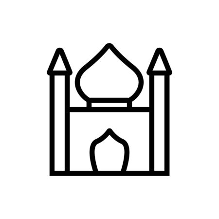 religious synagogue icon vector. religious synagogue sign. isolated contour symbol illustration