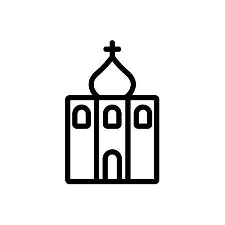 christian temple icon vector. christian temple sign. isolated contour symbol illustration 矢量图像