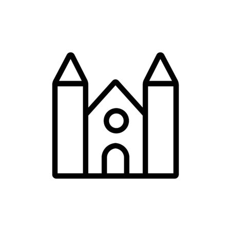 temple of high fencing icon vector. temple of high fencing sign. isolated contour symbol illustration