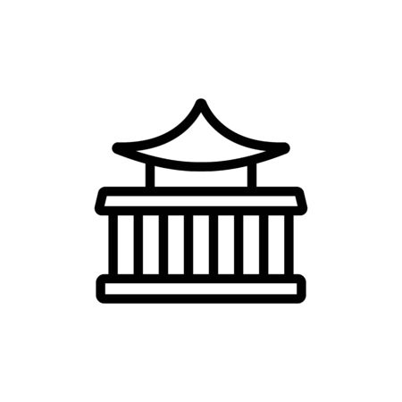 chinese oriental temple icon vector. chinese oriental temple sign. isolated contour symbol illustration Иллюстрация