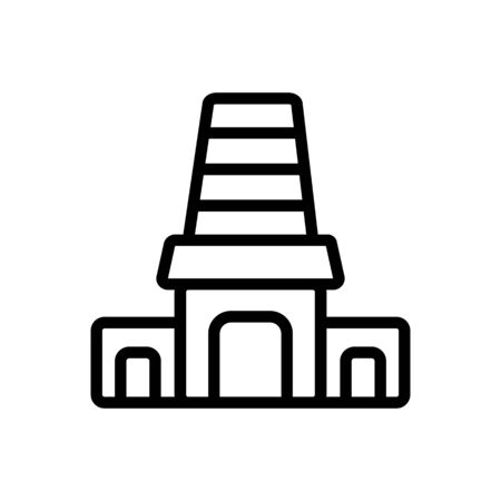 entrance to holy synagogue icon vector. entrance to holy synagogue sign. isolated contour symbol illustration