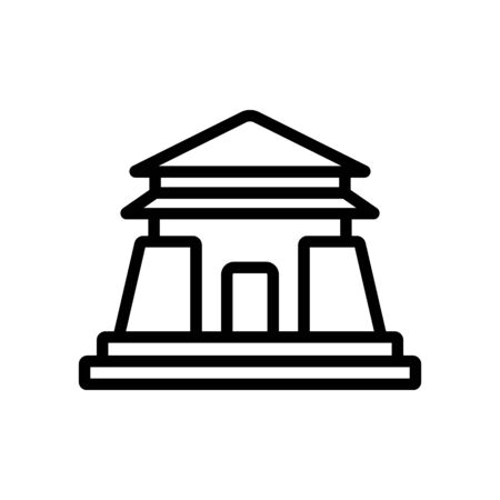 entrance to sacred temple icon vector. entrance to sacred temple sign. isolated contour symbol illustration Иллюстрация