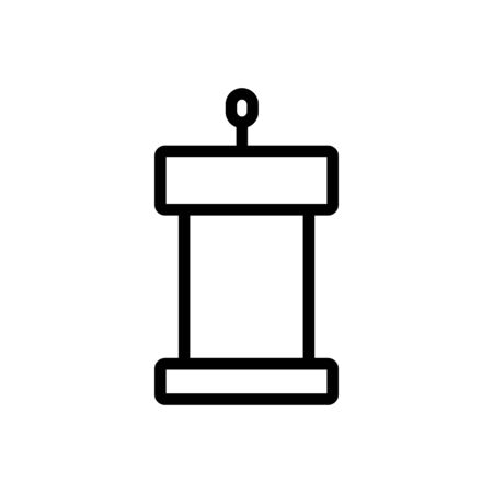 grandstand for people icon vector. grandstand for people sign. isolated contour symbol illustration