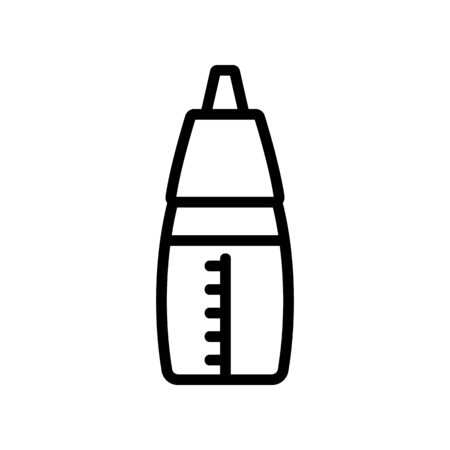 oil can with measuring icon vector. oil can with measuring sign. isolated contour symbol illustration