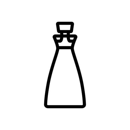 corked bottle of oil icon vector. corked bottle of oil sign. isolated contour symbol illustration