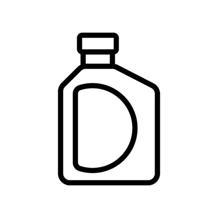 fluid bottle with handle icon vector. fluid bottle with handle sign. isolated contour symbol illustration Ilustração