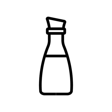 bottle with oil and cork icon vector. bottle with oil and cork sign. isolated contour symbol illustration Ilustração