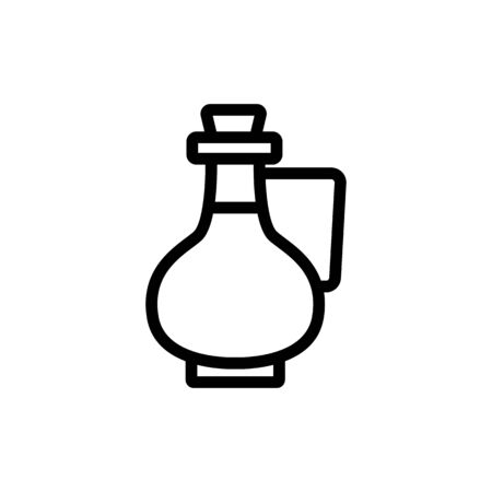 jug with handle and oil icon vector. jug with handle and oil sign. isolated contour symbol illustration