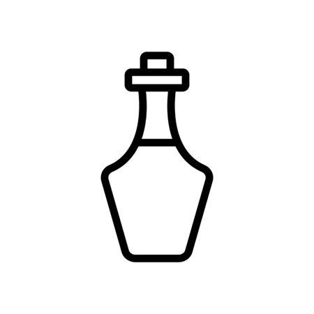 greek kitchen oil bottle icon vector. greek kitchen oil bottle sign. isolated contour symbol illustration