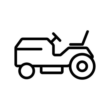 lawn mower machine side view icon vector. lawn mower machine side view sign. isolated contour symbol illustration