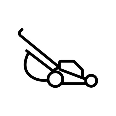 manual lawn mower icon vector. manual lawn mower sign. isolated contour symbol illustration