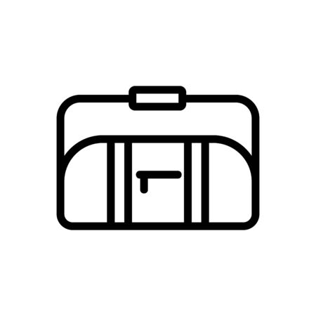 sports bag with long handle on shoulder icon vector. sports bag with long handle on shoulder sign. isolated contour symbol illustration Ilustrace