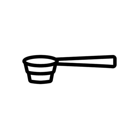 bartender special spoon icon vector. bartender special spoon sign. isolated contour symbol illustration