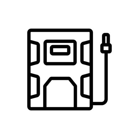 entrance door to industrial technology plant icon vector. entrance door to industrial technology plant sign. isolated contour symbol illustration Illustration