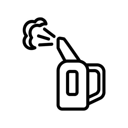 steam flow for steam iron for vertical ironing icon vector. steam flow for steam iron for vertical ironing sign. isolated contour symbol illustration