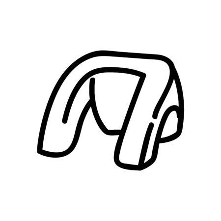 shoulder massager icon vector. shoulder massager sign. isolated contour symbol illustration Illusztráció