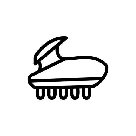 massage brush icon vector. massage brush sign. isolated contour symbol illustration