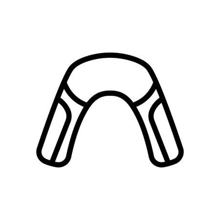 massage pillow with neck nozzles icon vector. massage pillow with neck nozzles sign. isolated contour symbol illustration Ilustrace