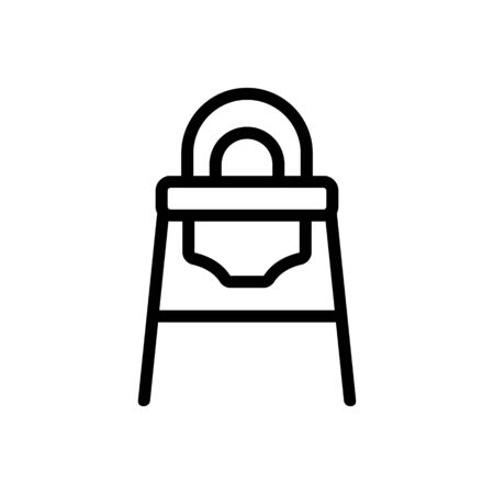 transformer feeding chair with rounded back icon vector. transformer feeding chair with rounded back sign. isolated contour symbol illustration